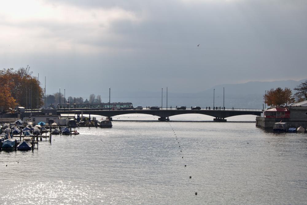 Zürich See: Schon von weitem sieht man das Glitzern des Zürichsees.