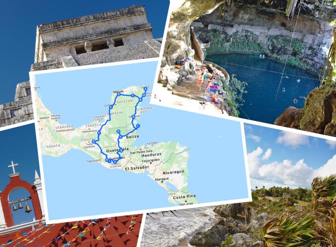 Rundreise Mittelamerika: Mexiko, Guatemala und Belize mit Routen-Vorschlag