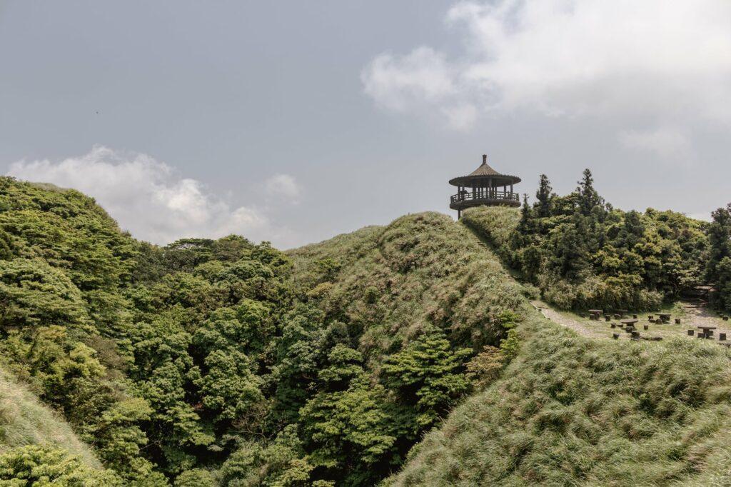 Taipei Wandern Yangmingshan-Nationalpark Pavilion auf dem Mount Qixing