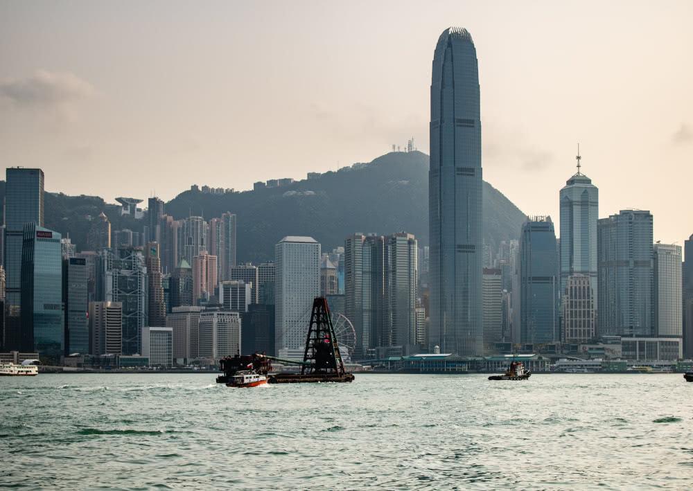 Die beeindruckende Skyline von Hong Kong