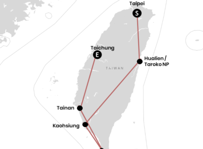 Unsere Backpacking-Route durch Taiwan (+Karte)