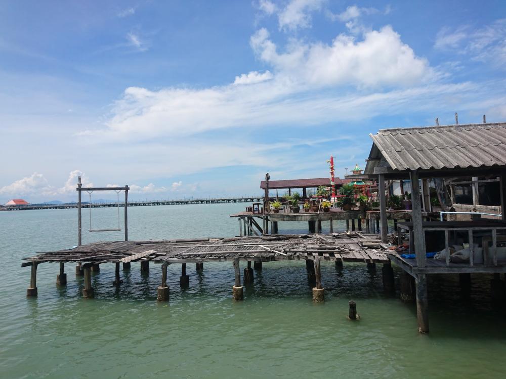 Thailand Lanta Old Town liegt so nah am Wasser