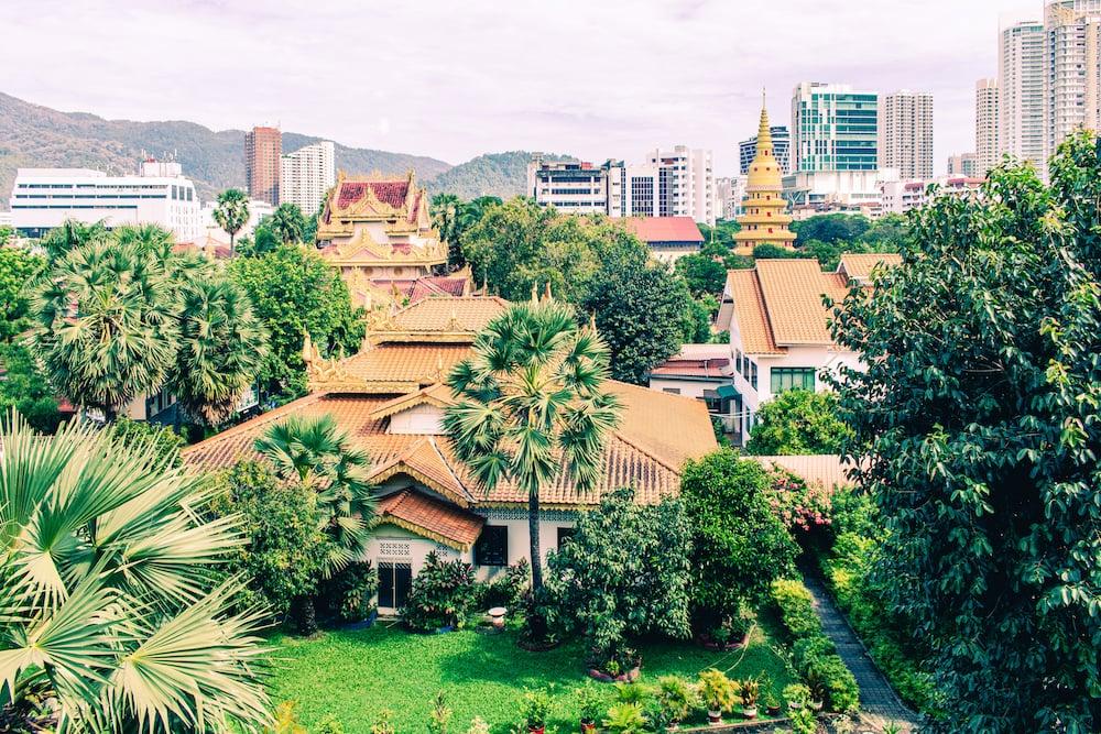 Blick vom burmesischen Tempel