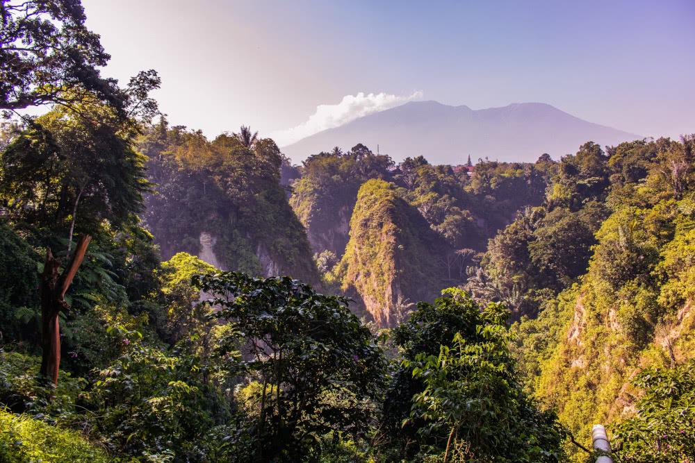Sumatra Indonesien Bukittinggi Sionok Tal