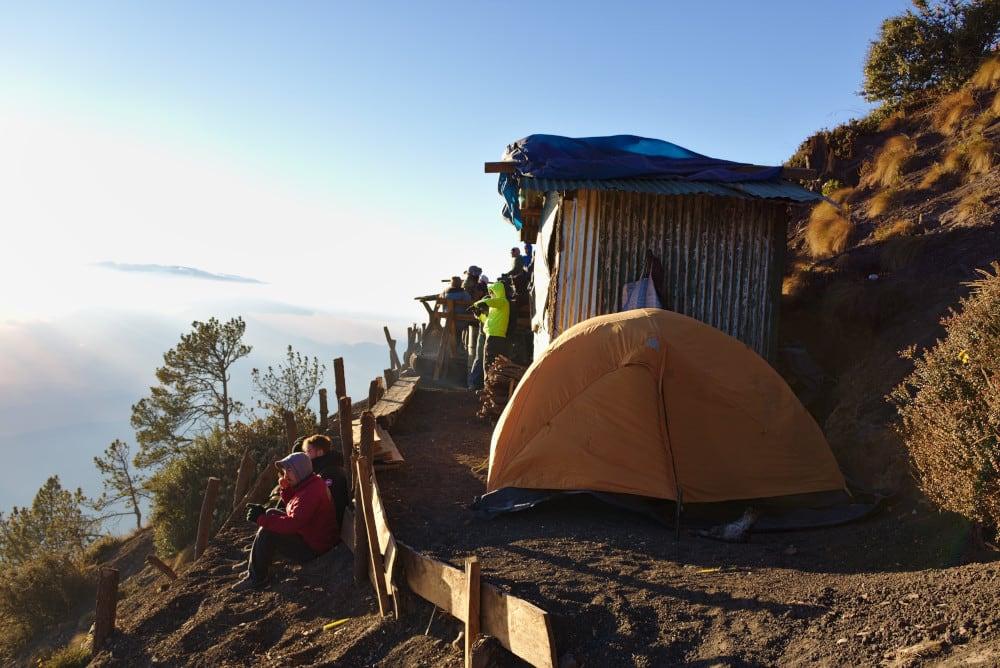 Unser Camp auf dem Vulkan Acatenango