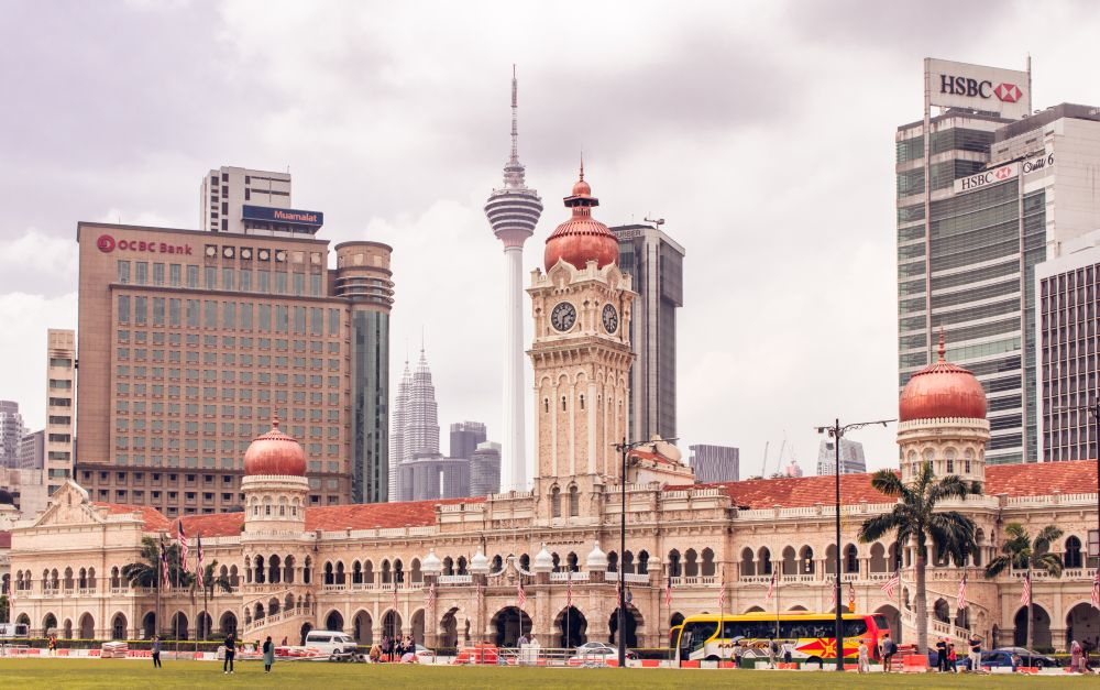 Malaysia Kuala Lumpur Friedensplatz