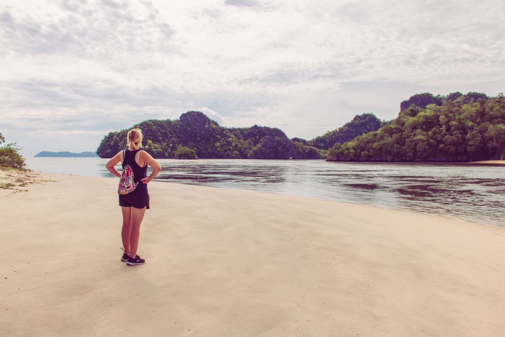 Malaysia Langkawi Der Tanjung Rhu Strand ganz im Norden auf Langkawi