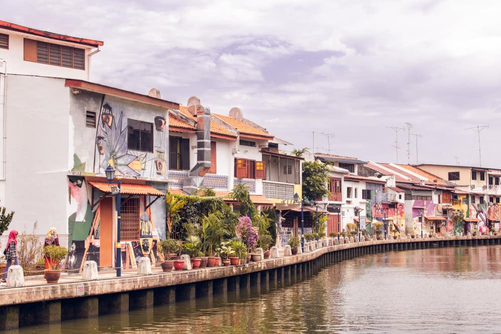 Malaysia Melaka am Fluss