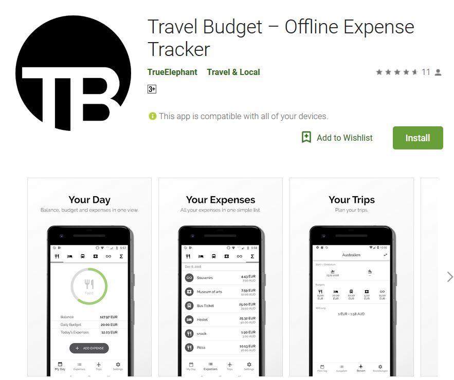 Reisekosten im Griff: App TravelBudget