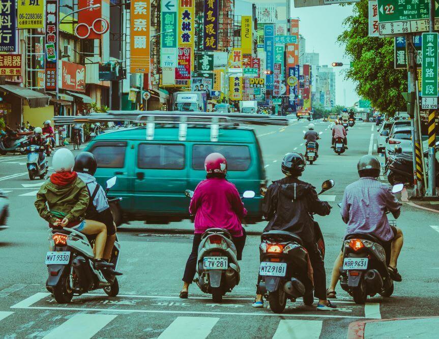 Tainan Hauptsächlich findet man chinesische Schilder in Taiwan