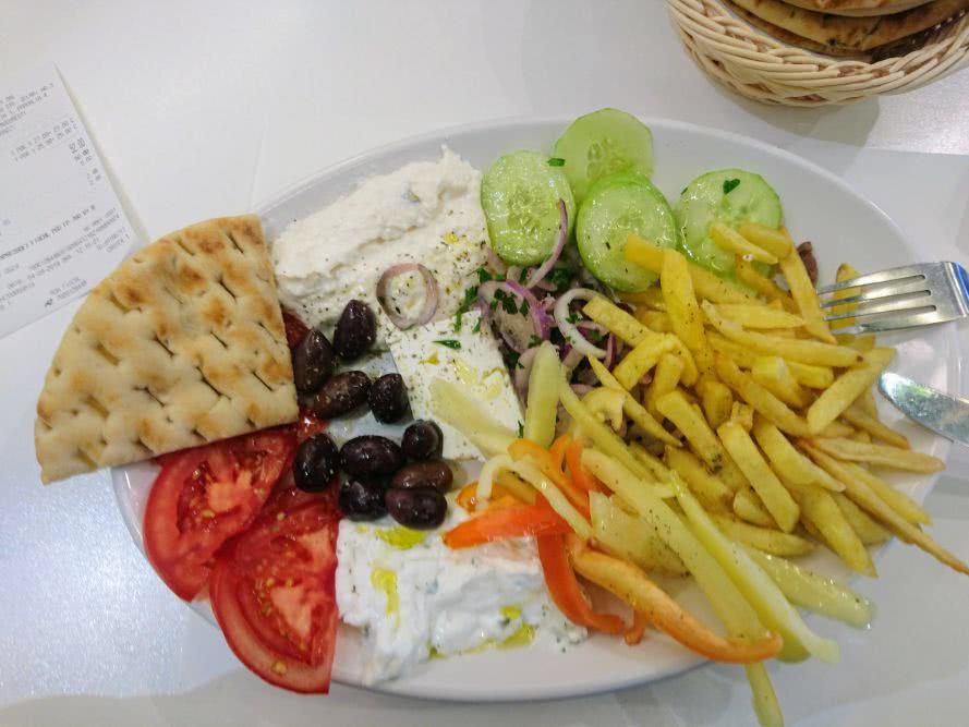 (Vegetarisches) Griechisches Essen in Bukarest