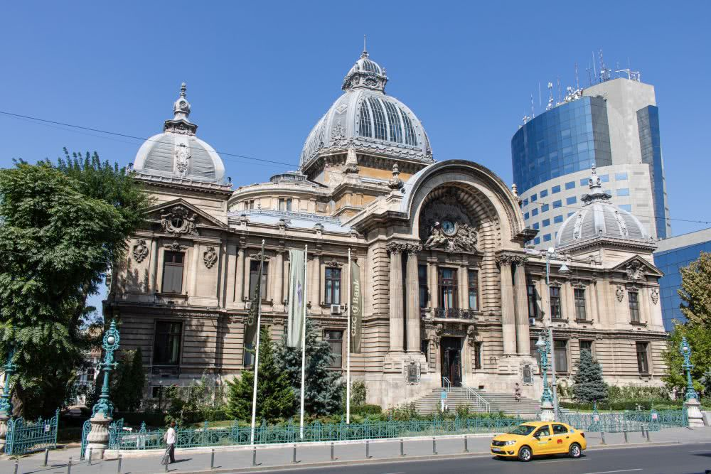 Bukarester Sehenswürdigkeit: Das wohl schönste Bankgebäude (Cec Bank)