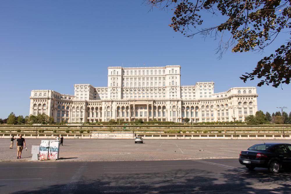 Rumänien Bukarest das Parlaments als eine Sehenswürdigkeit