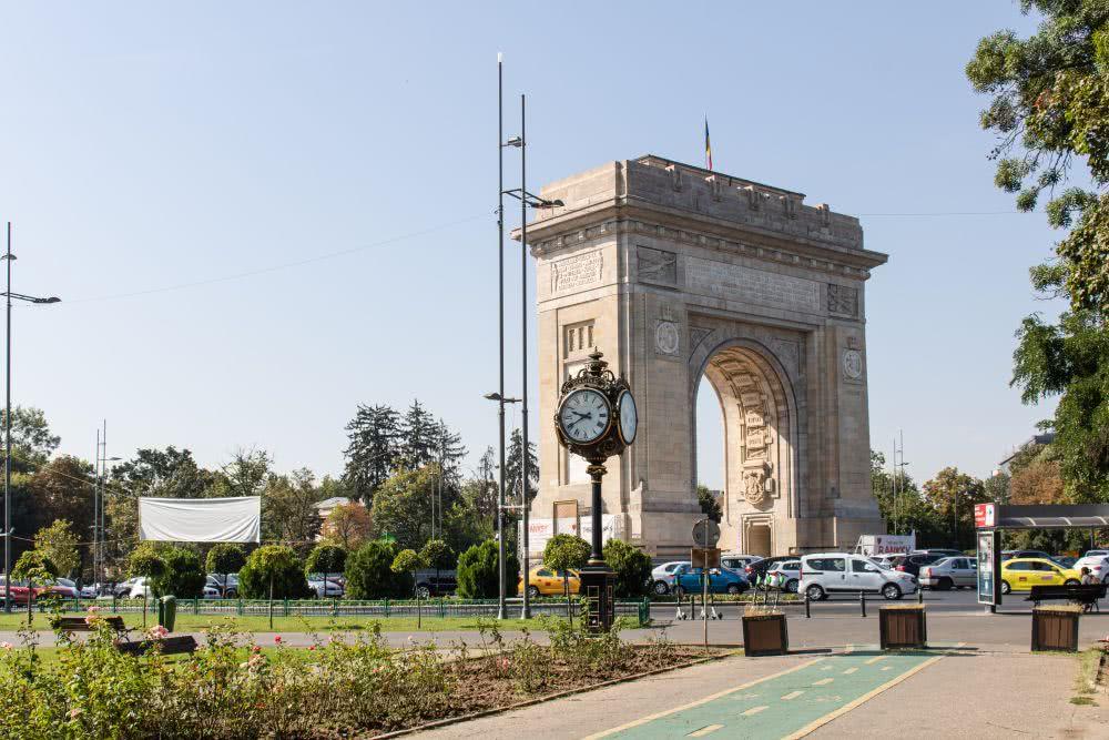 Rumänien Bukarester Sehenswürdigkeiten Arcul de Triumf