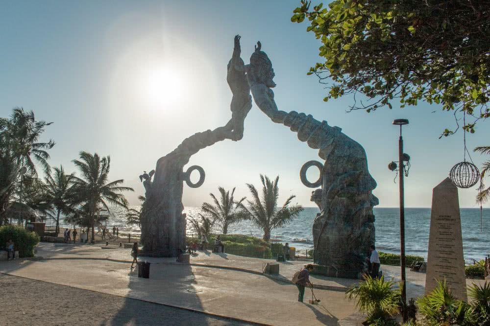 Mexiko Playa Del Carmen Sonnenuaufgang am Strand Porta Maya