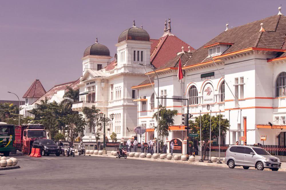 Indonesien Insel Java Yogyakartar mit seinen schönen, historischen Bauten