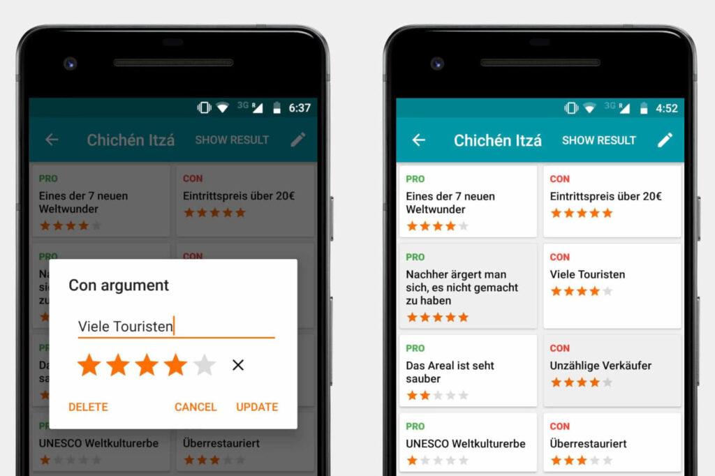 Lohnt sich Chichen Itza Vergleich der Argumente mit der App ProCon