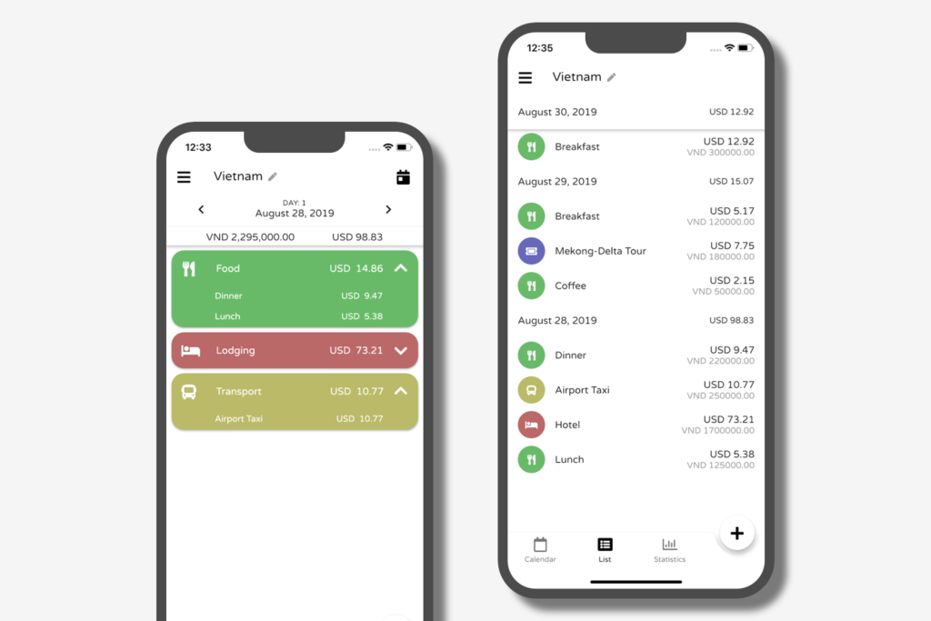 Die Reisekosten App Trexpense im Einsatz