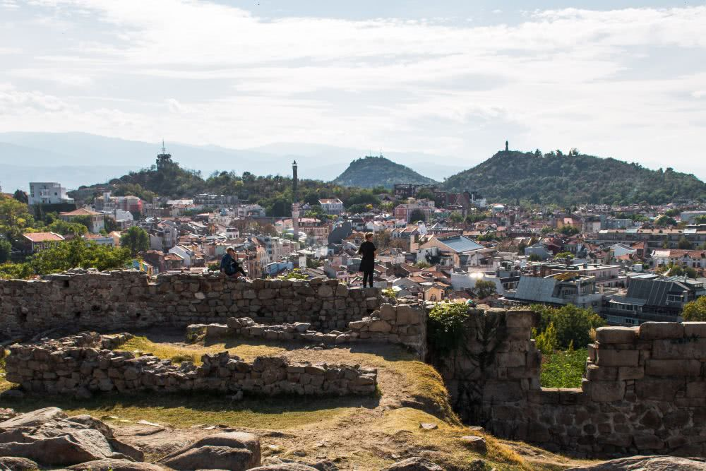 Bulgarien Sehenswürdigkeiten Ausblick in Plovdiv