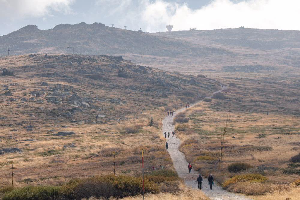 Bulgarien Wandern in der Nähe der Großstadt im Vitosha Gebirge