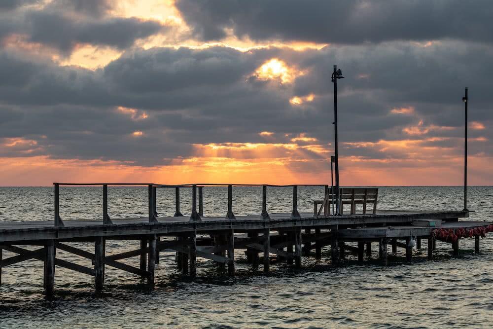 Am Morgen kämpfte sich die Sonne langsam durch die – gelegentlich vorhandene – Wolkendecke.