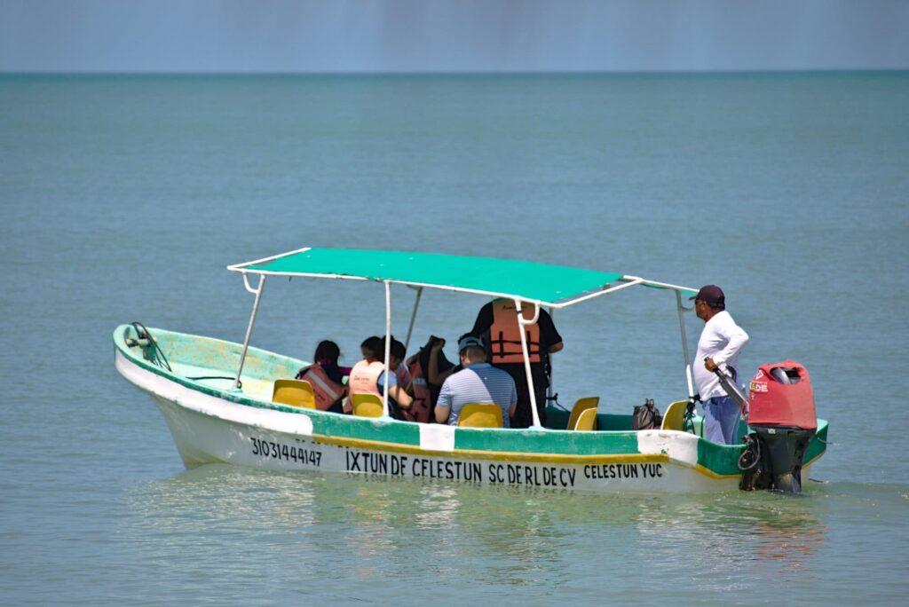 Mexiko Das kleine Boot in Celestun für acht Passagiere