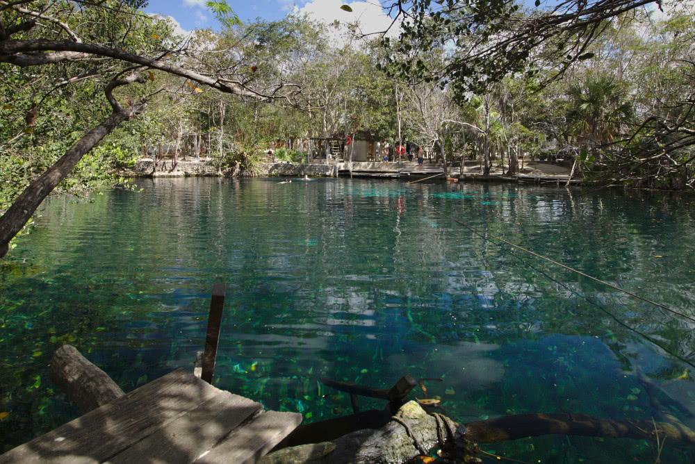 Mexiko da kommt die Cenote Car Wash gerade richtig