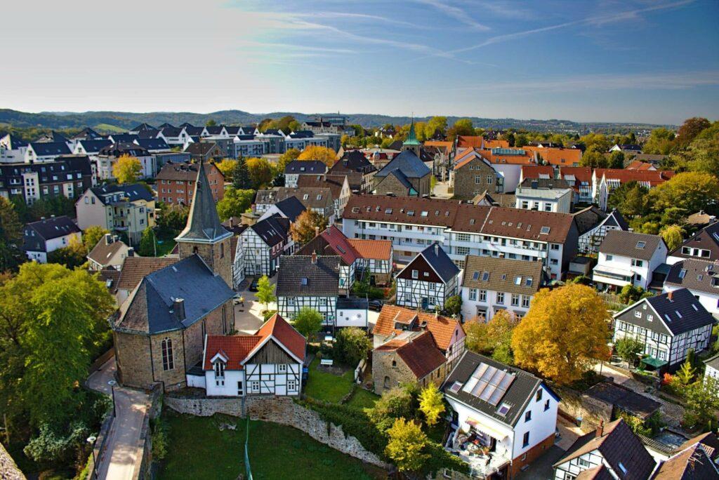 Wie eine Spielzeugstadt: Hattingen-Blankenstein.
