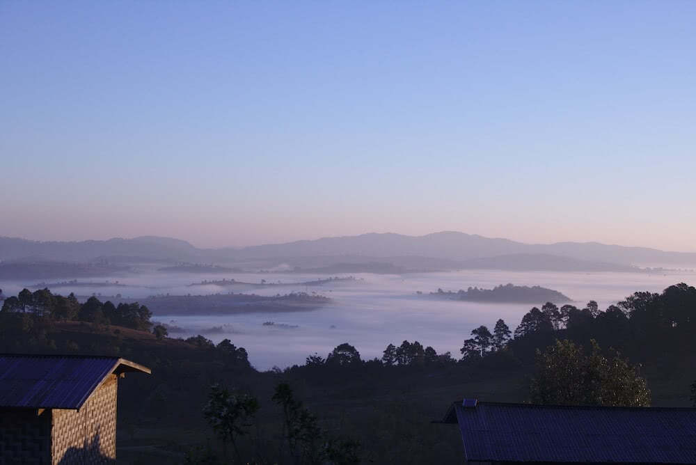 Route Kalaw Inle Lake Homestay mit Sonnenaufgang