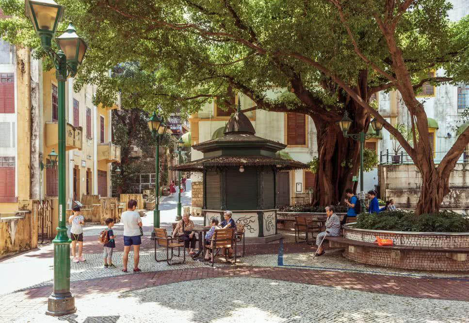 Macau Der gemütliche Park im Quiosque do Largo do Lilau