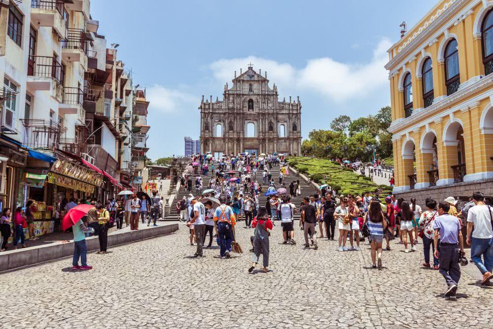 Sehenswert Die Ruinen der Pauluskirche in Macau