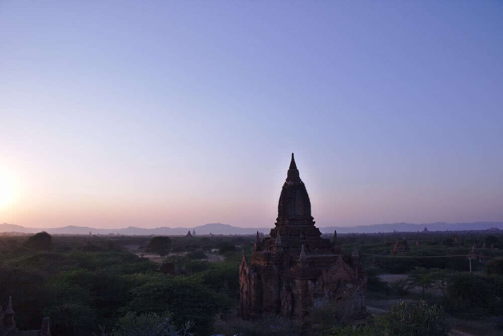 Der tolle Ausblick über die Tempel-Stätte.