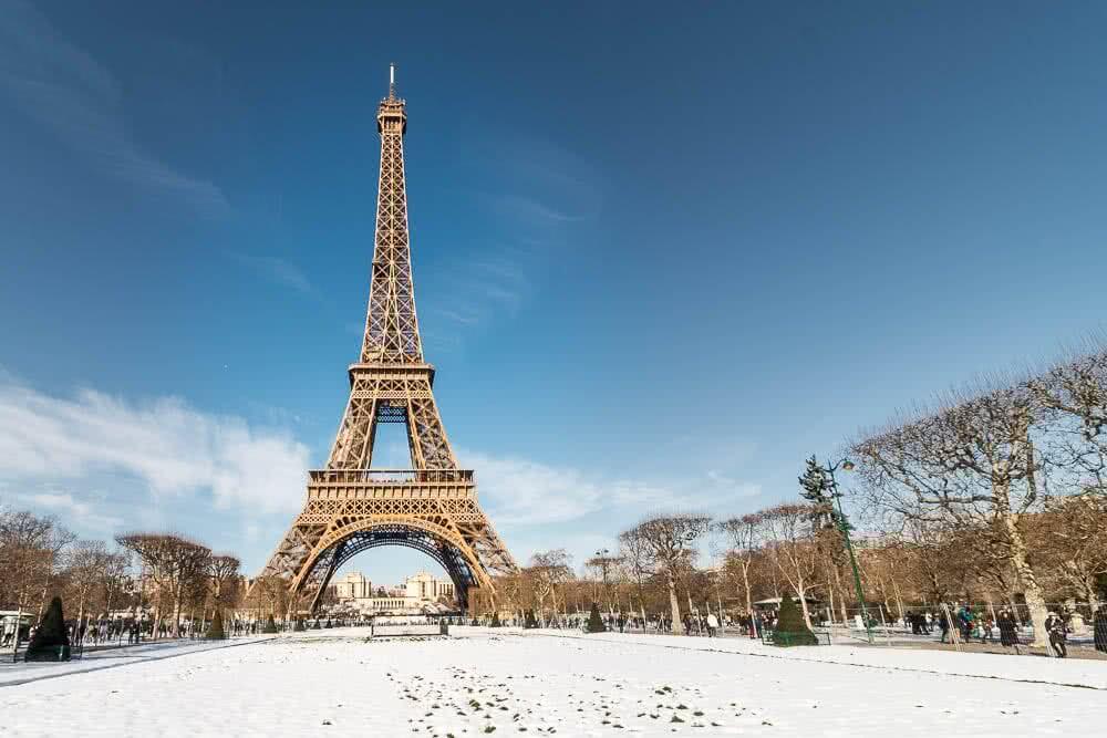 Europas schönste Reisefotos Paris ist auch im Winter sehenswert