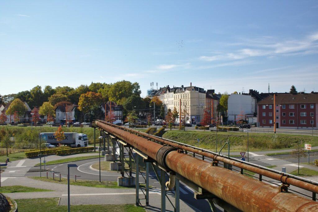 Ruhrgebiet Jahrhunderthalle und Umgebung in Bochum im Herbst
