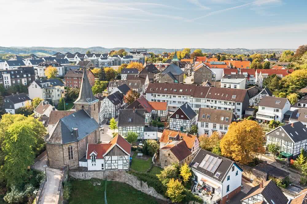 Europas schönste Reisefotos Ausblick von der Burg Blankenstein in Hattingen