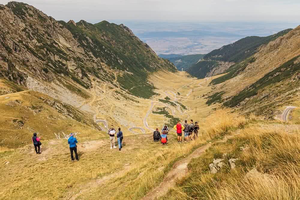 Europas schönste Reisefotos Ausblick auf die Transfăgărășan Hochstraße in Rumänien