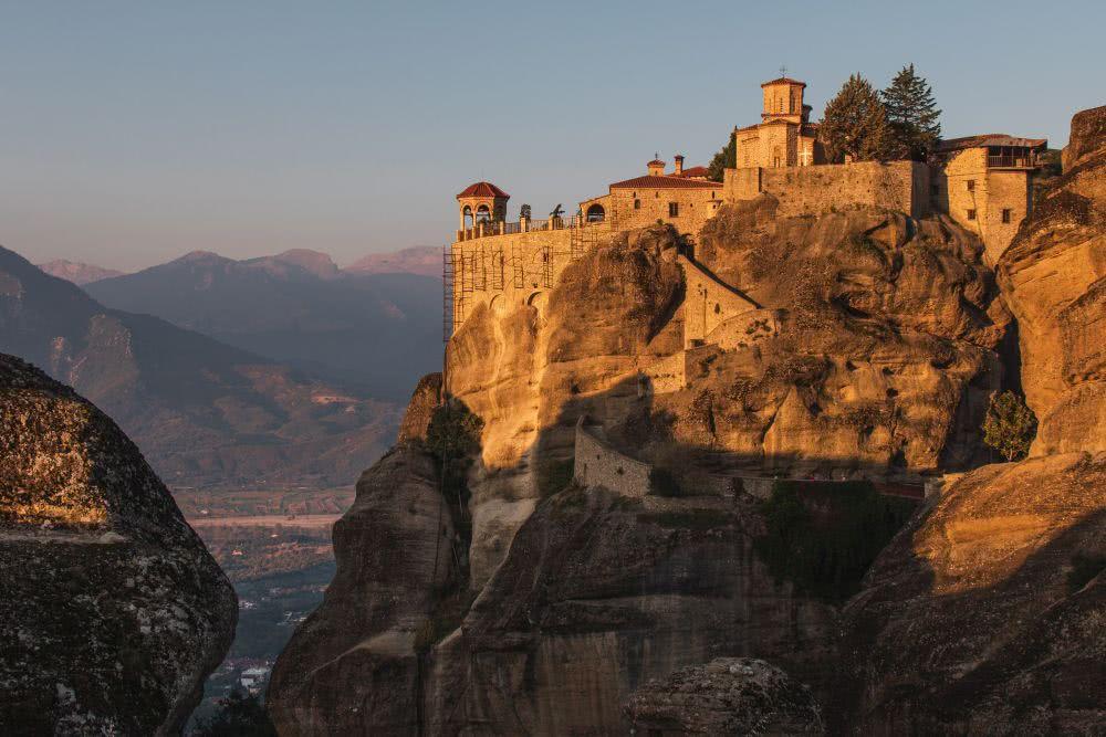 Das Varlaam Kloster am frühen Morgen