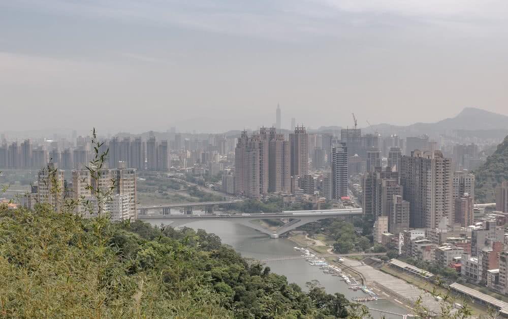 Eine fantastische Aussicht auf Taipei