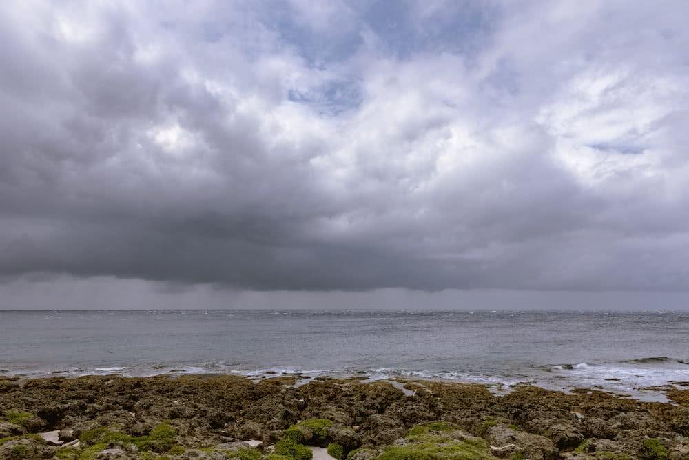 Das Wetter war außergewöhnlich stürmisch.