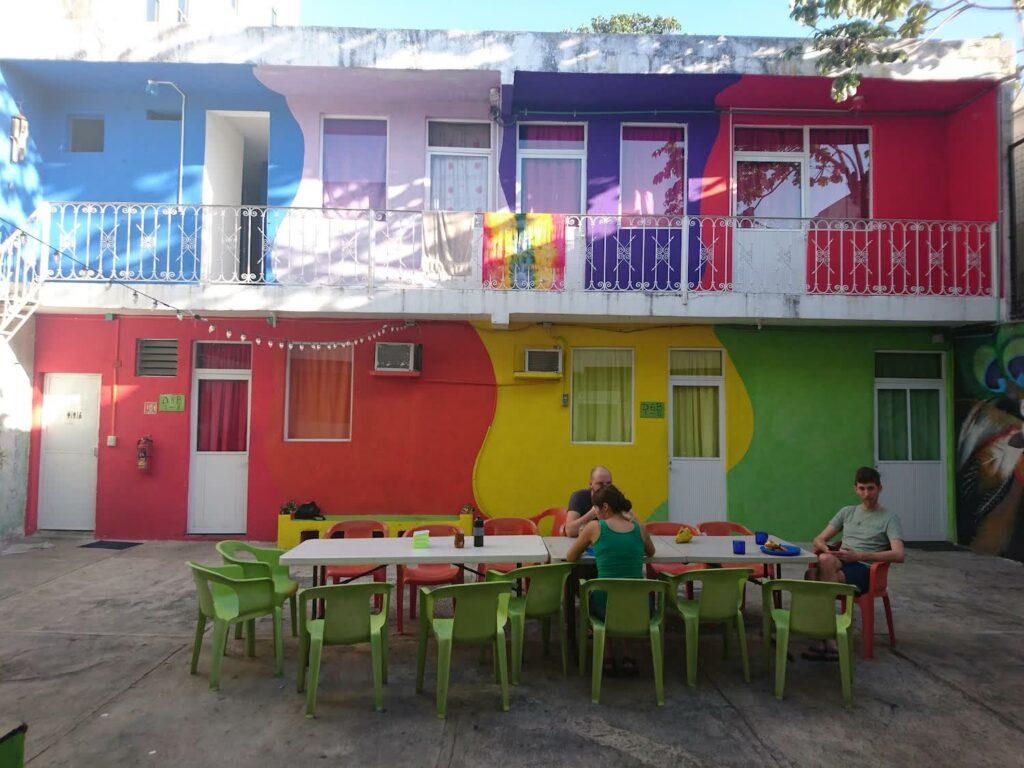 Backpacking Unsere erste Unterkunft in Cancun