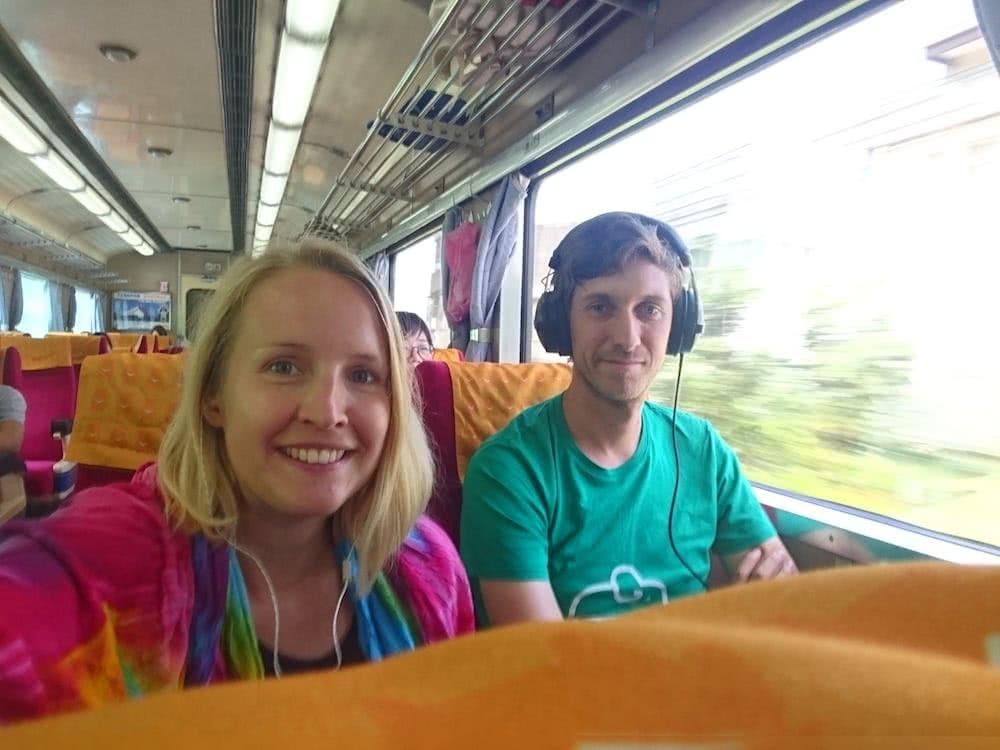 Rund 4 Stunden waren wir mit dem Zug vom Taipei nach Hualien unterwegs.