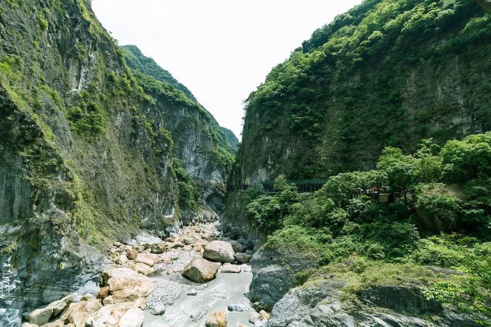 Die steile Schlucht im Nationalpark war sehr beeindruckend.