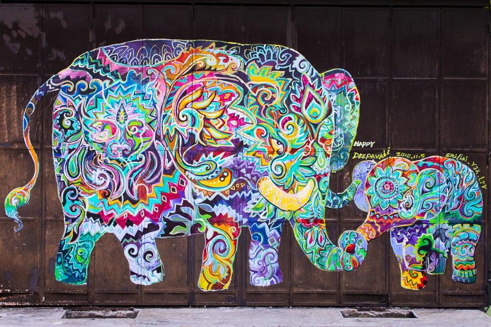Bunte Streetart in Ipoh