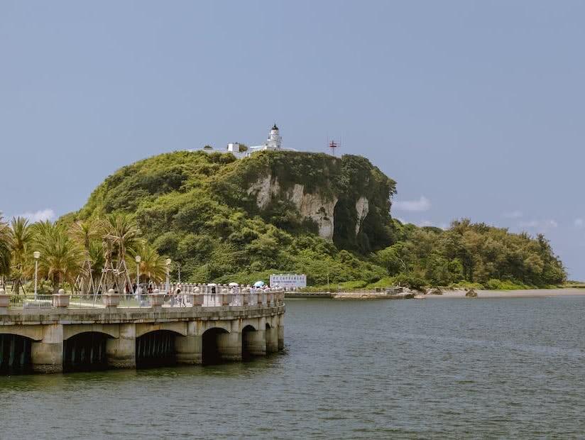 Bei unserem Spaziergang entdeckten wir auch den Leuchtturm auf der Insel Cijin.