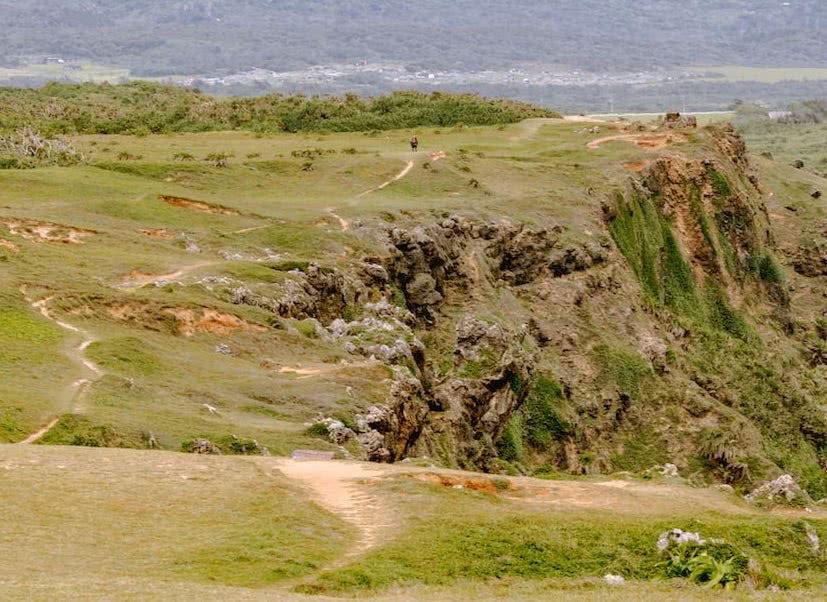 Die Klippen waren Teil einer beeindruckenden Küstenlandschaft.