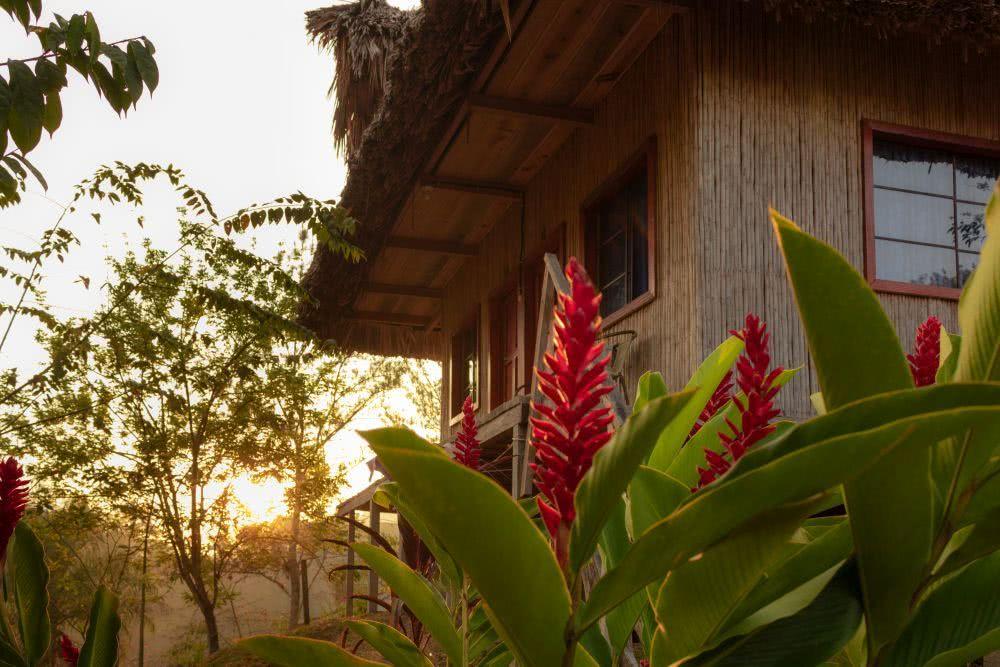 In einer kleinen Hütte im Grünen übernachteten wir in Lanquín