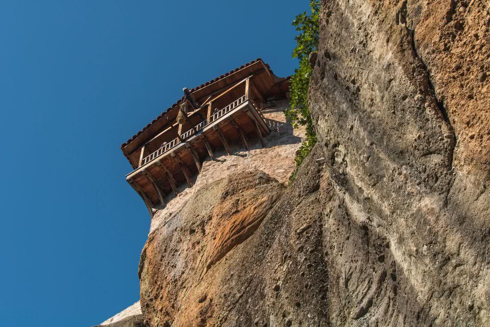 Häufiger lohnt es sich, in Meteora, einen Blick nach oben zu wagen