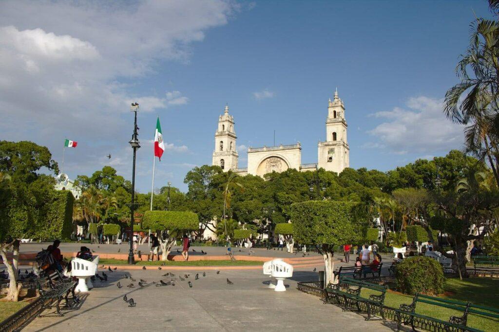 Mexiko Route Der Zentralpark von Mérida