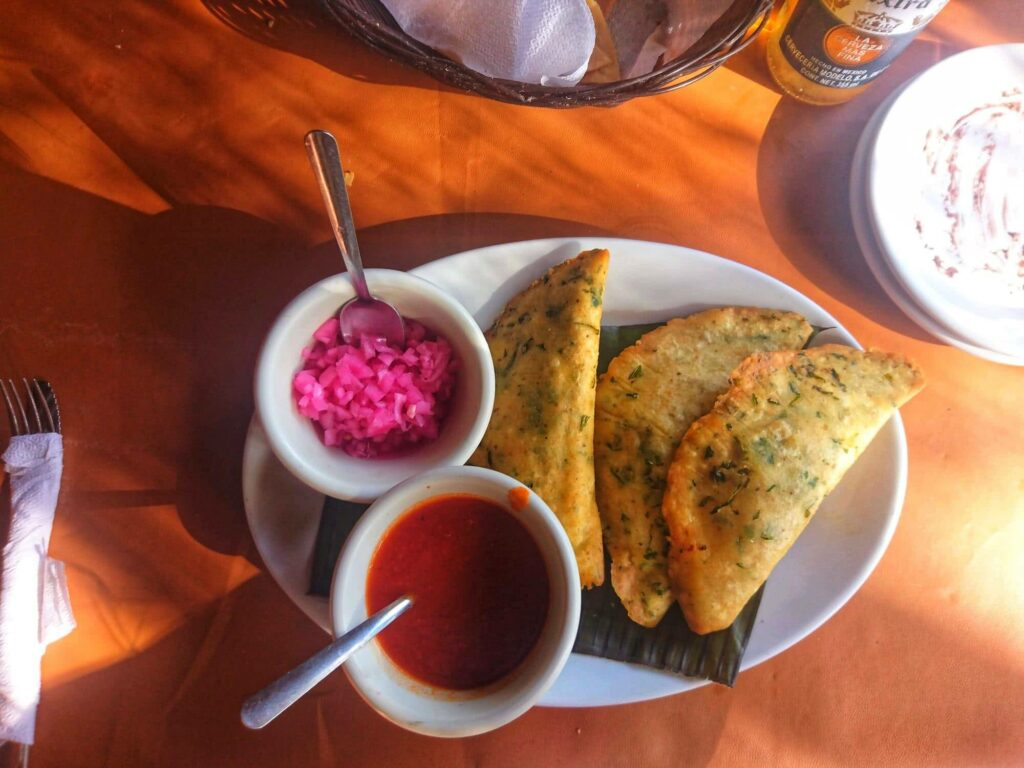 Gibt es auch: leckeres vegetarisches Essen in Mexiko.