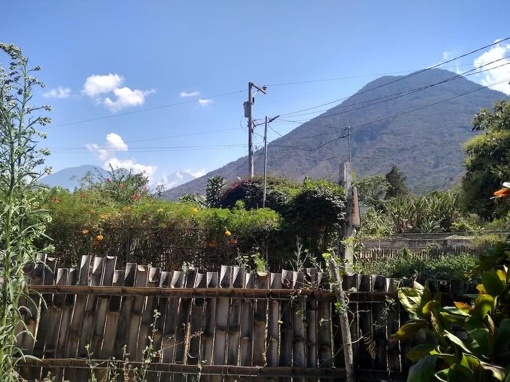 Von unserer Unterkunft aus hatten wir den San Pedro Vulkan jeden Tag im Blick.